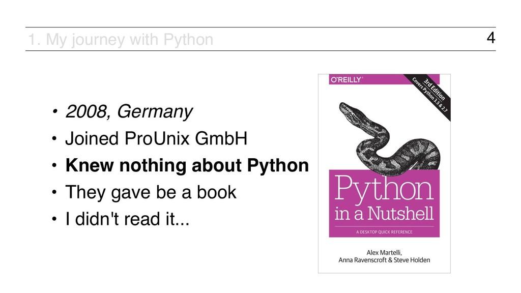 4 • 2008, Germany • Joined ProUnix GmbH • Knew ...