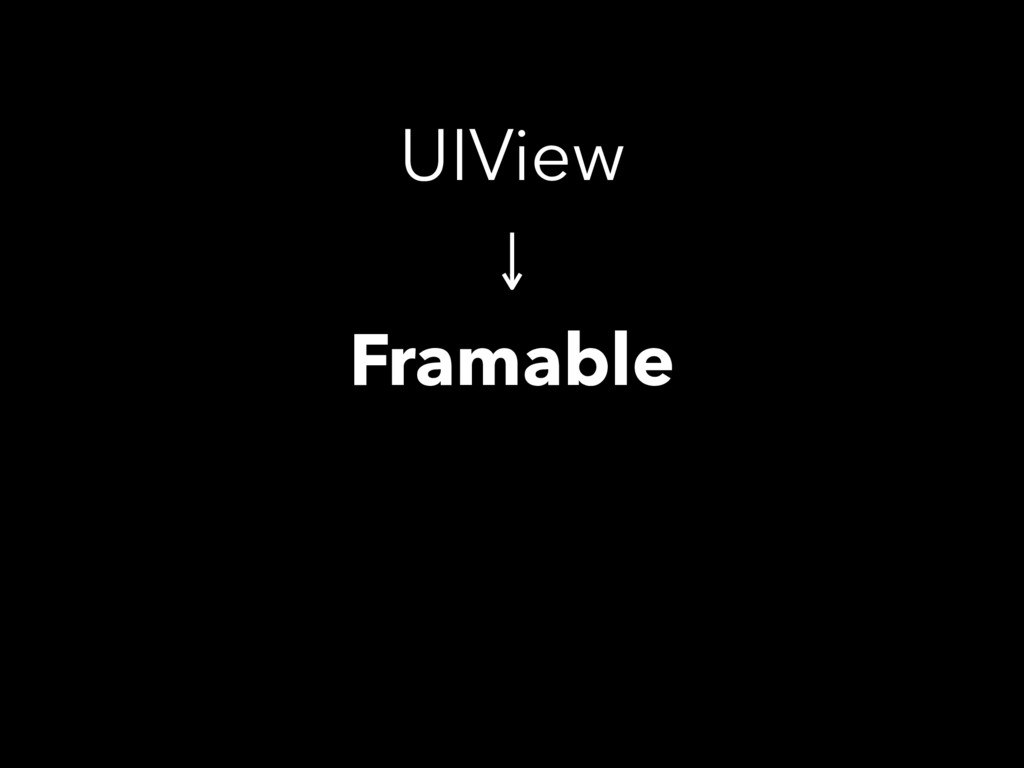UIView Framable