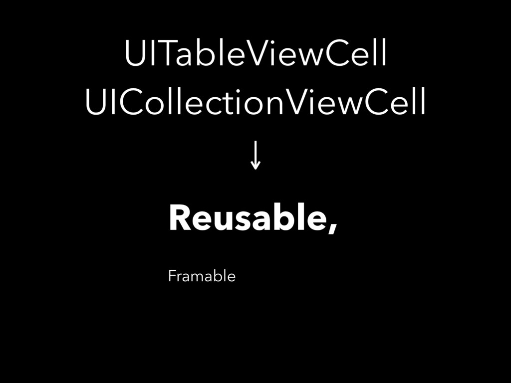 UITableViewCell UICollectionViewCell Reusable,...