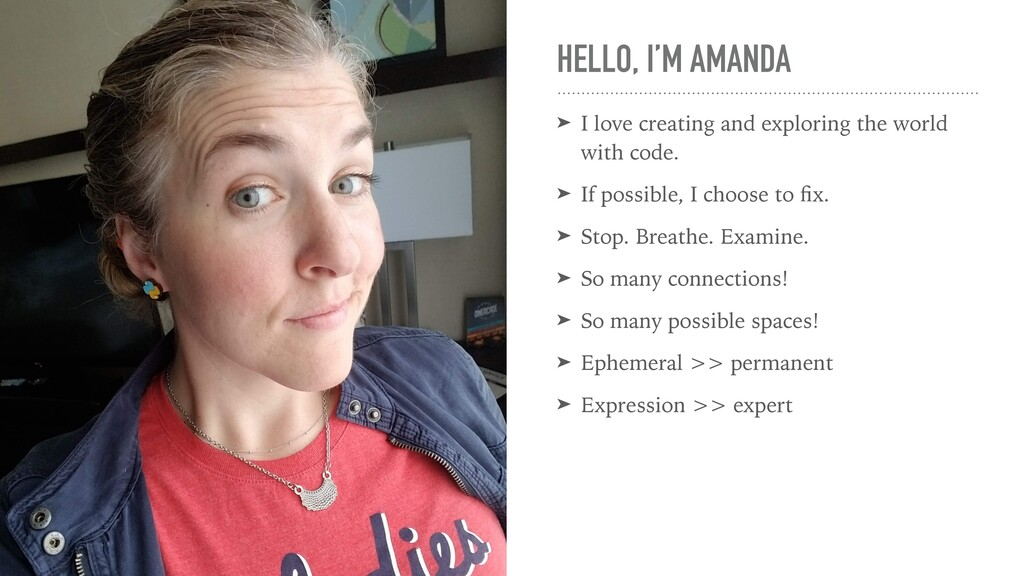 HELLO, I'M AMANDA ➤ I love creating and explori...