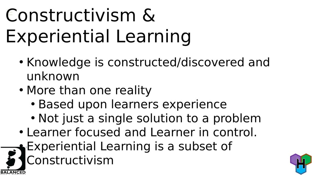 Constructivism & Experiential Learning • Knowle...