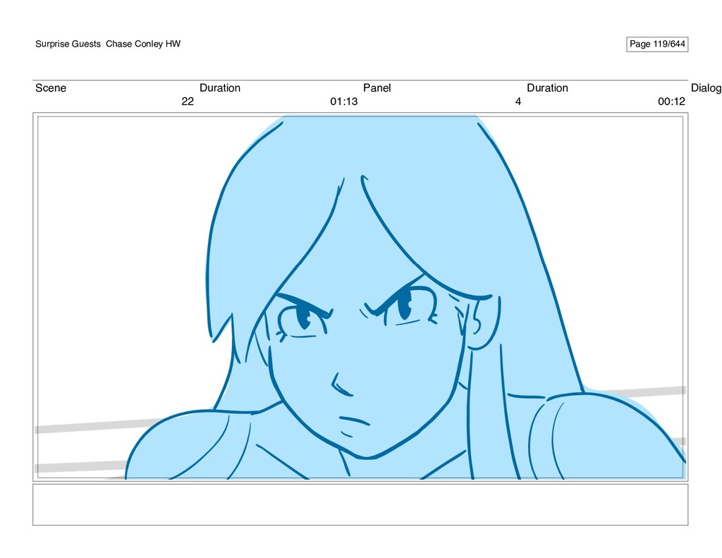 Scene 22 Duration 01:13 Panel 4 Duration 00:12 ...