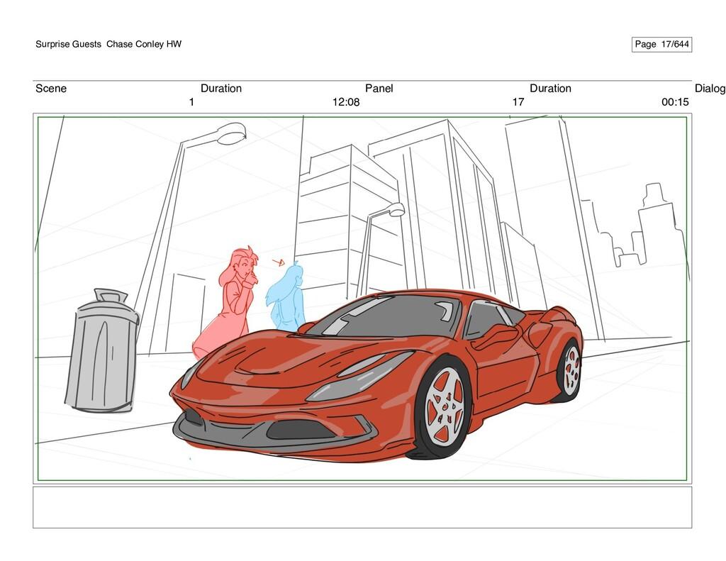 Scene 1 Duration 12:08 Panel 17 Duration 00:15 ...