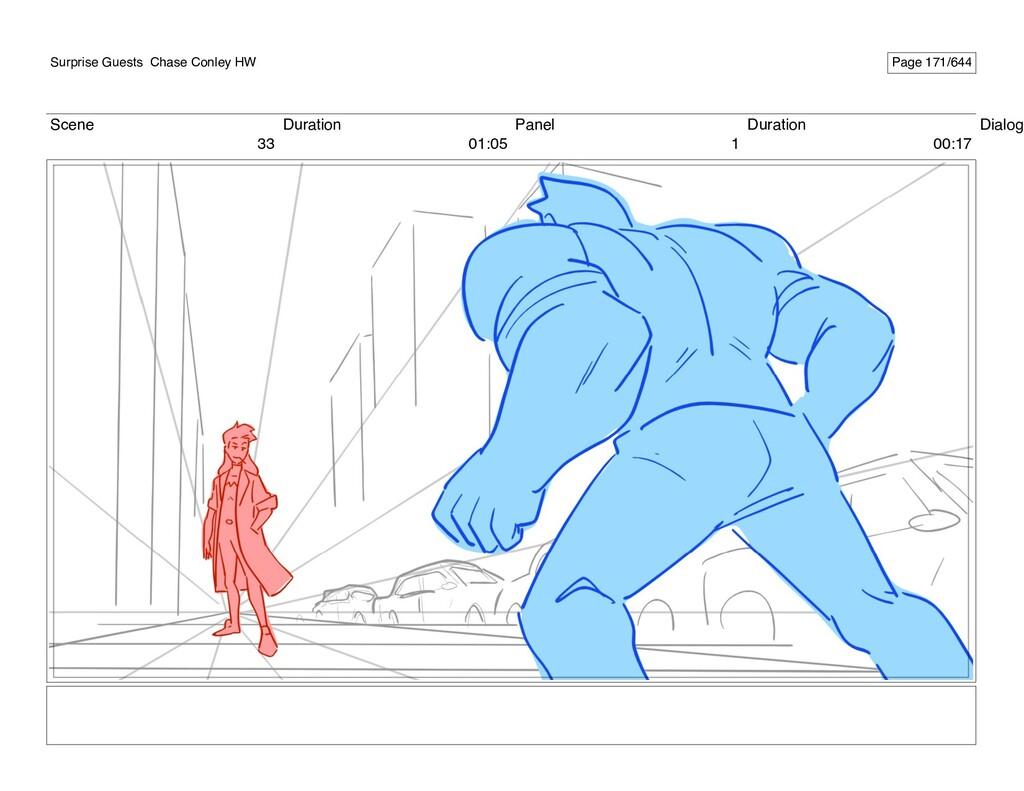 Scene 33 Duration 01:05 Panel 1 Duration 00:17 ...