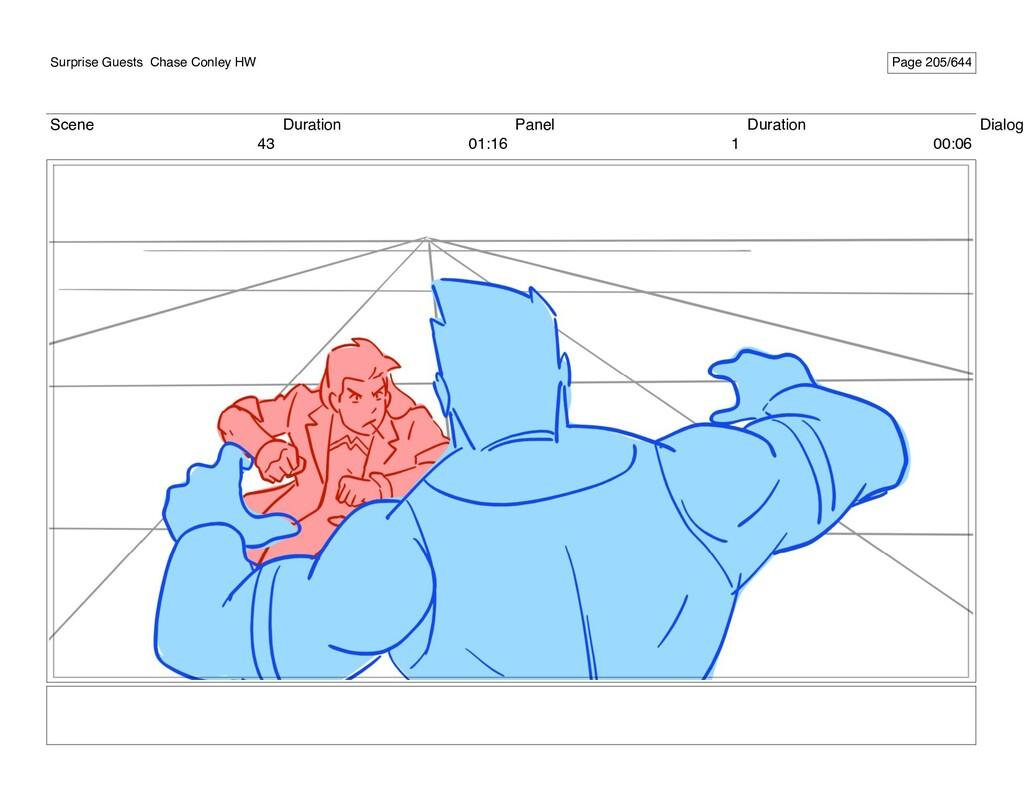 Scene 43 Duration 01:16 Panel 1 Duration 00:06 ...