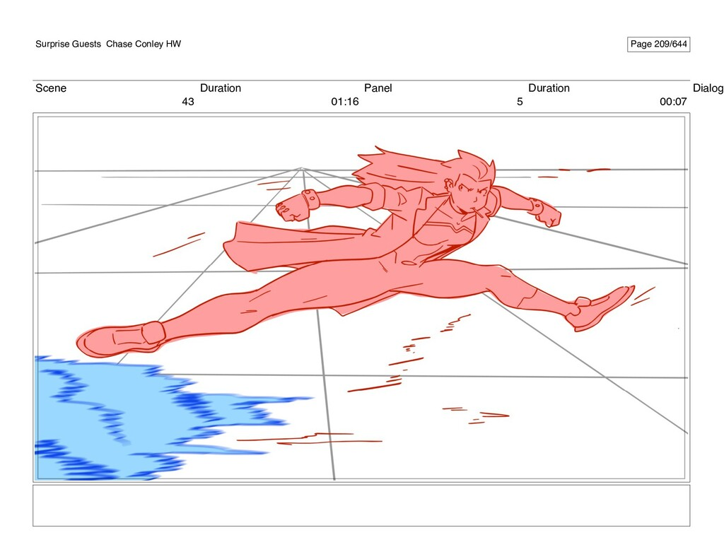 Scene 43 Duration 01:16 Panel 5 Duration 00:07 ...