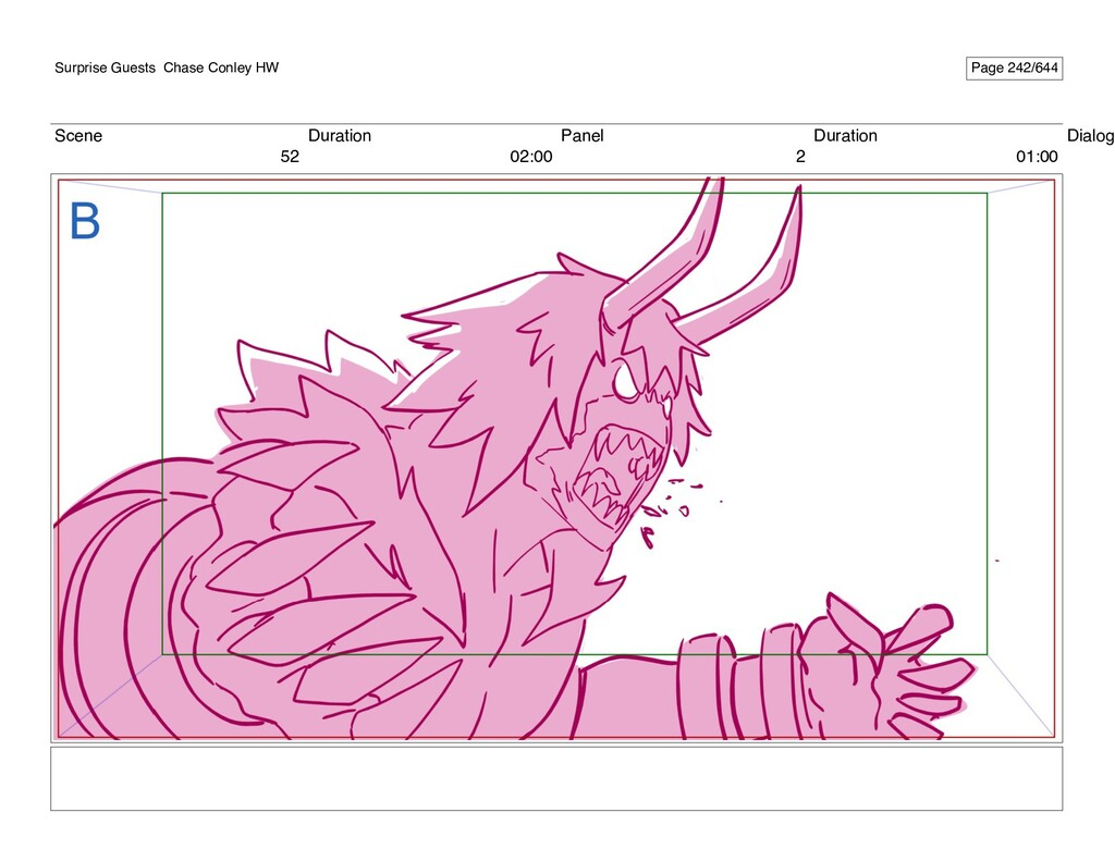 Scene 52 Duration 02:00 Panel 2 Duration 01:00 ...