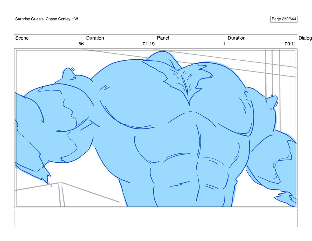 Scene 56 Duration 01:19 Panel 1 Duration 00:11 ...