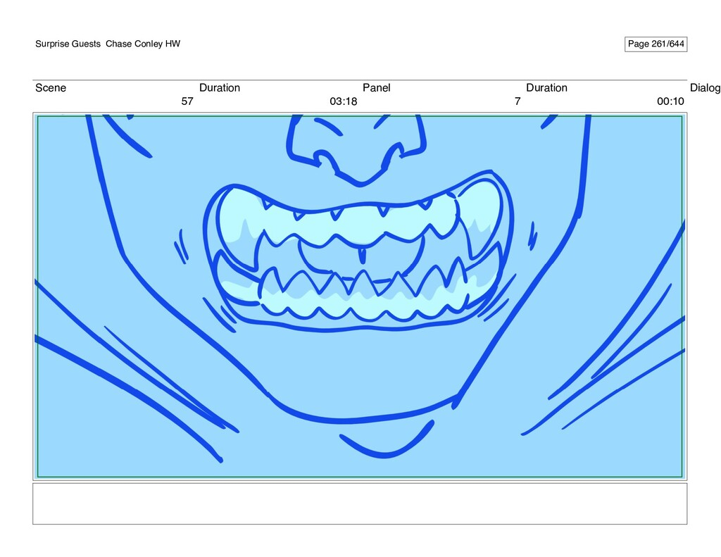 Scene 57 Duration 03:18 Panel 7 Duration 00:10 ...