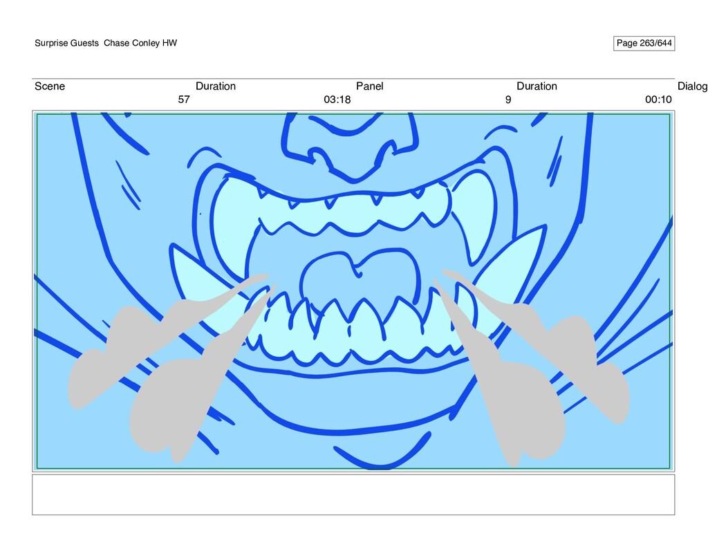 Scene 57 Duration 03:18 Panel 9 Duration 00:10 ...