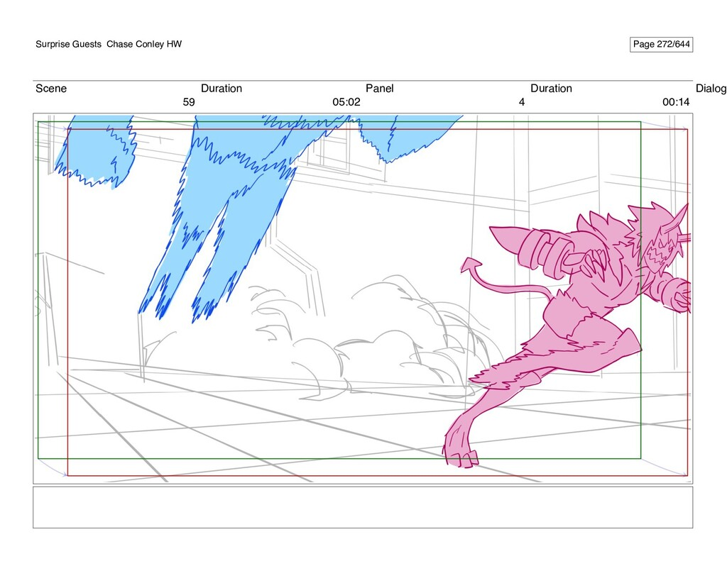 Scene 59 Duration 05:02 Panel 4 Duration 00:14 ...