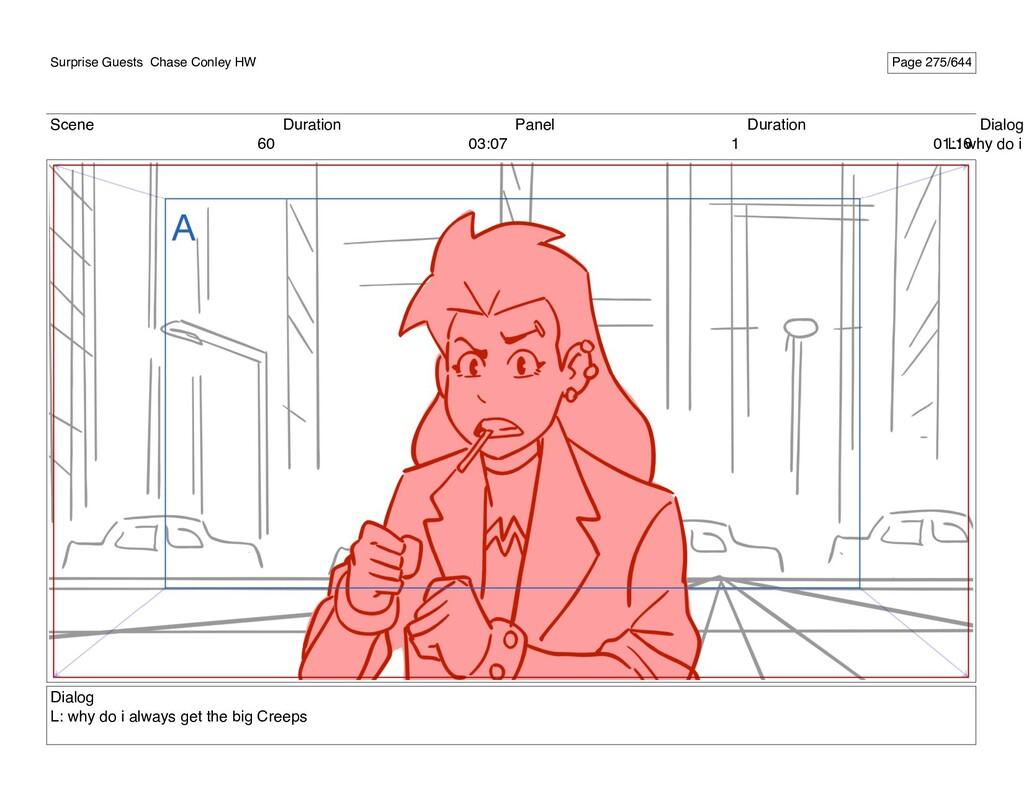Scene 60 Duration 03:07 Panel 1 Duration 01:16 ...