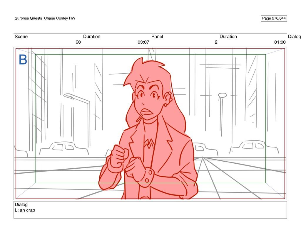 Scene 60 Duration 03:07 Panel 2 Duration 01:00 ...