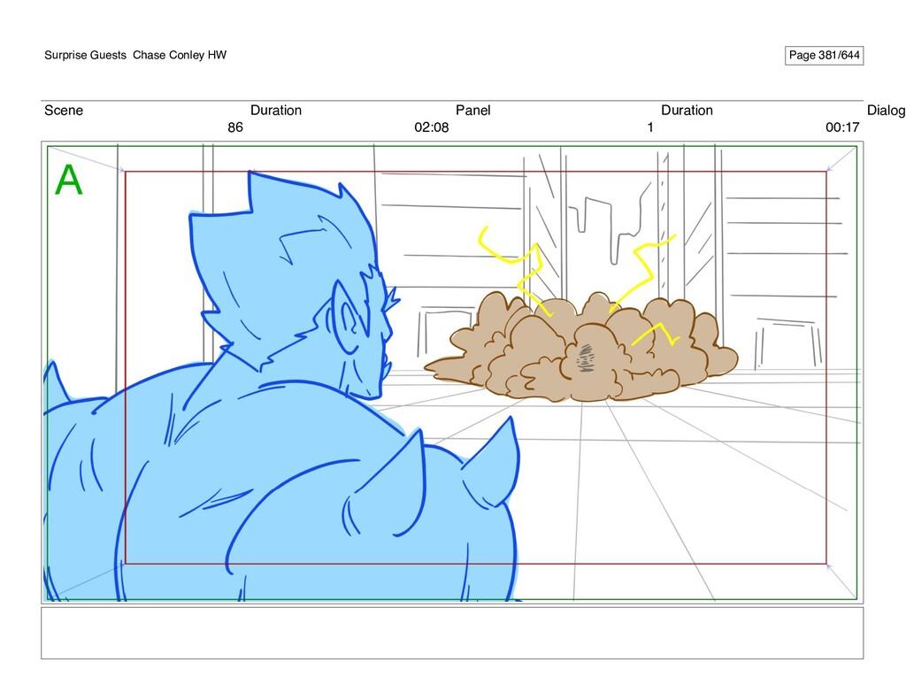 Scene 86 Duration 02:08 Panel 1 Duration 00:17 ...