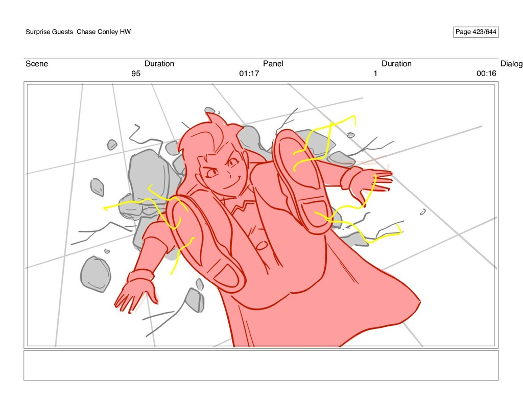Scene 95 Duration 01:17 Panel 1 Duration 00:16 ...