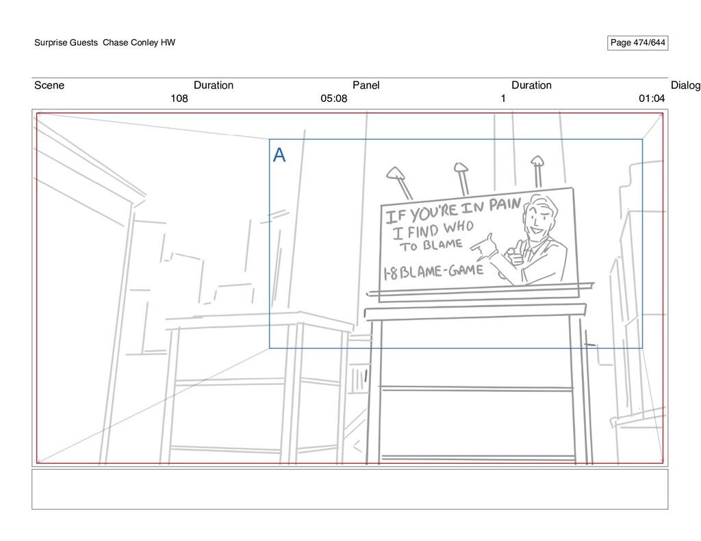 Scene 108 Duration 05:08 Panel 1 Duration 01:04...
