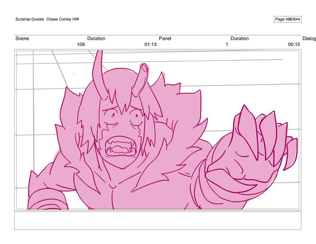 Scene 109 Duration 01:13 Panel 1 Duration 00:13...