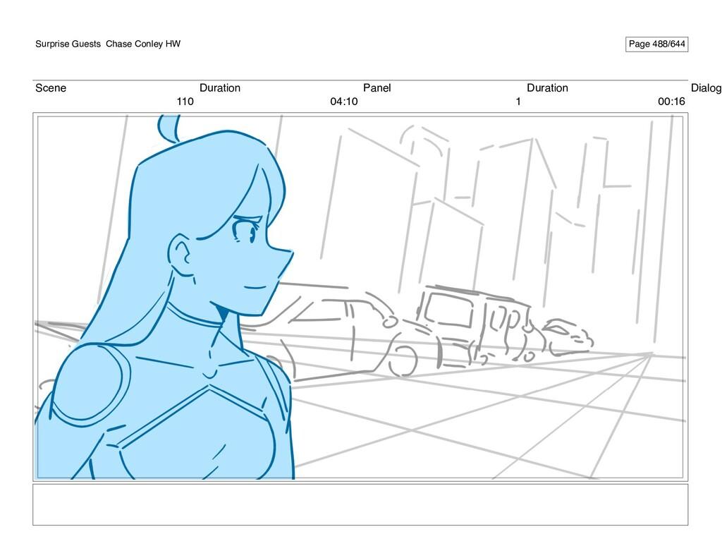 Scene 110 Duration 04:10 Panel 1 Duration 00:16...