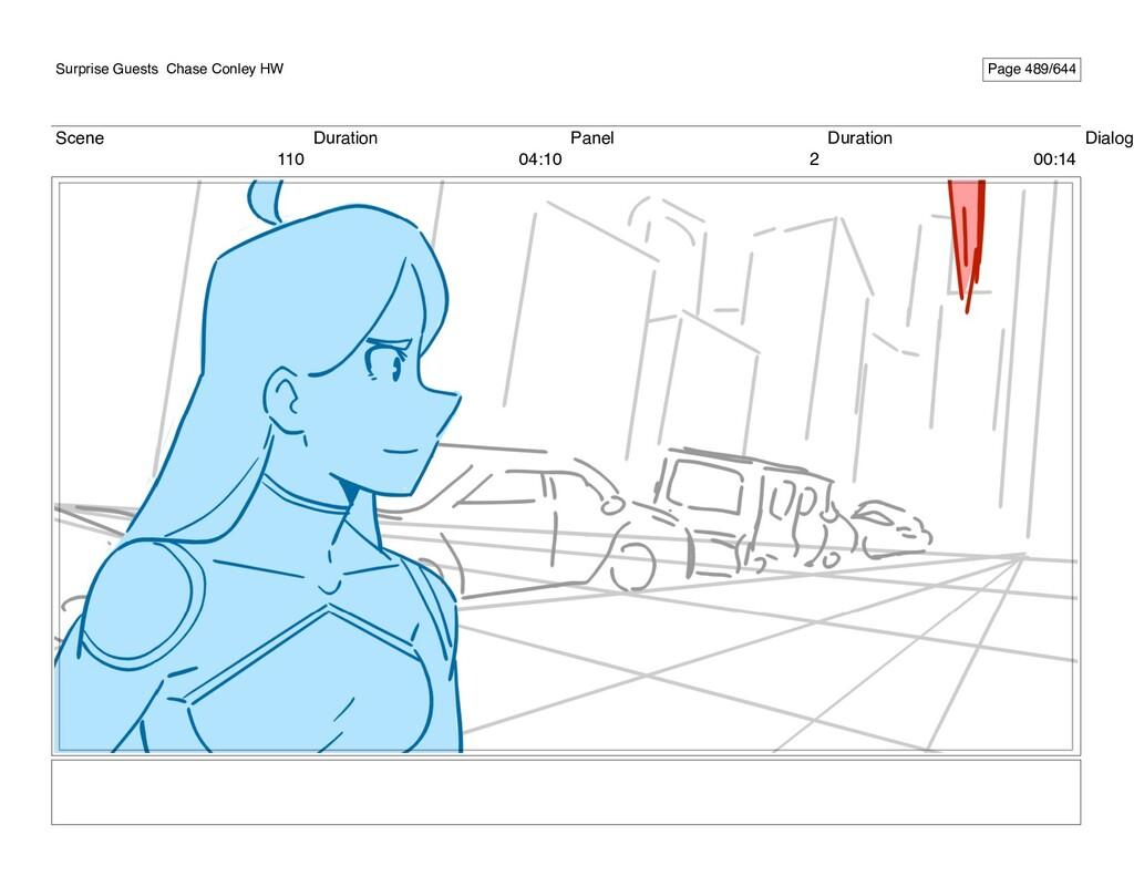 Scene 110 Duration 04:10 Panel 2 Duration 00:14...