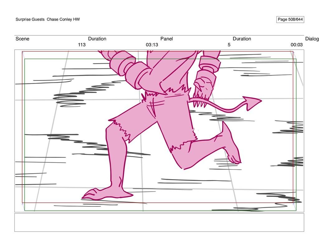 Scene 113 Duration 03:13 Panel 5 Duration 00:03...