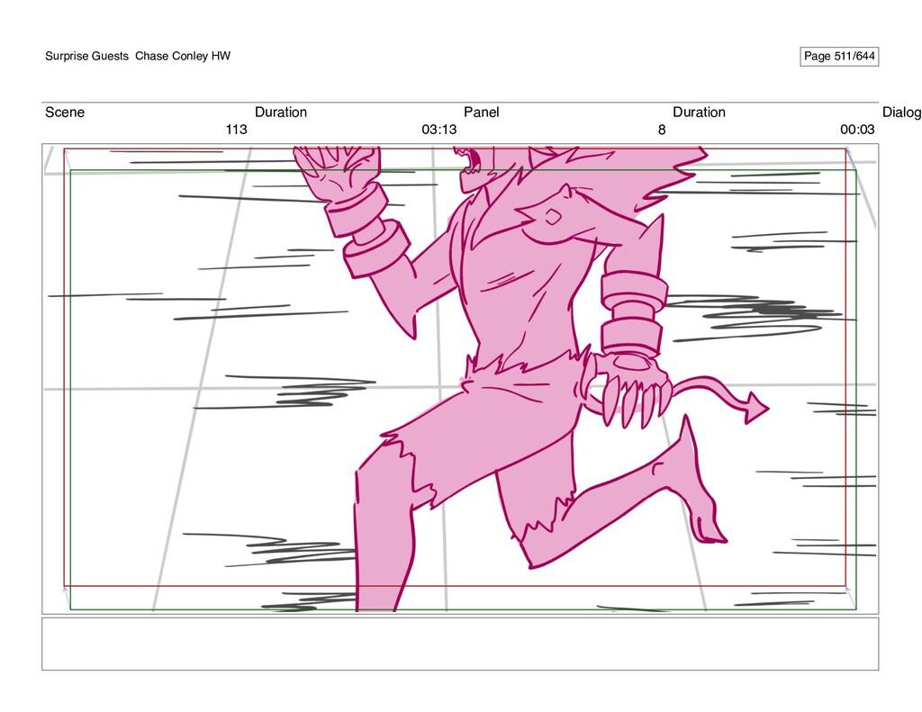 Scene 113 Duration 03:13 Panel 8 Duration 00:03...