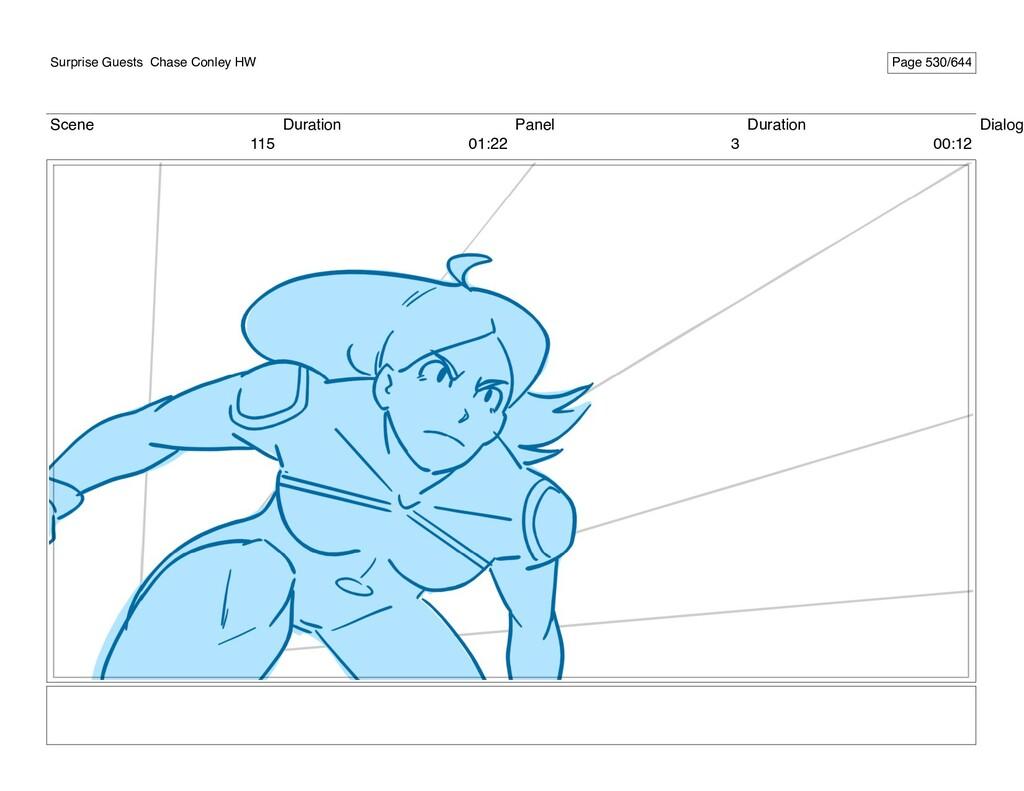Scene 115 Duration 01:22 Panel 3 Duration 00:12...