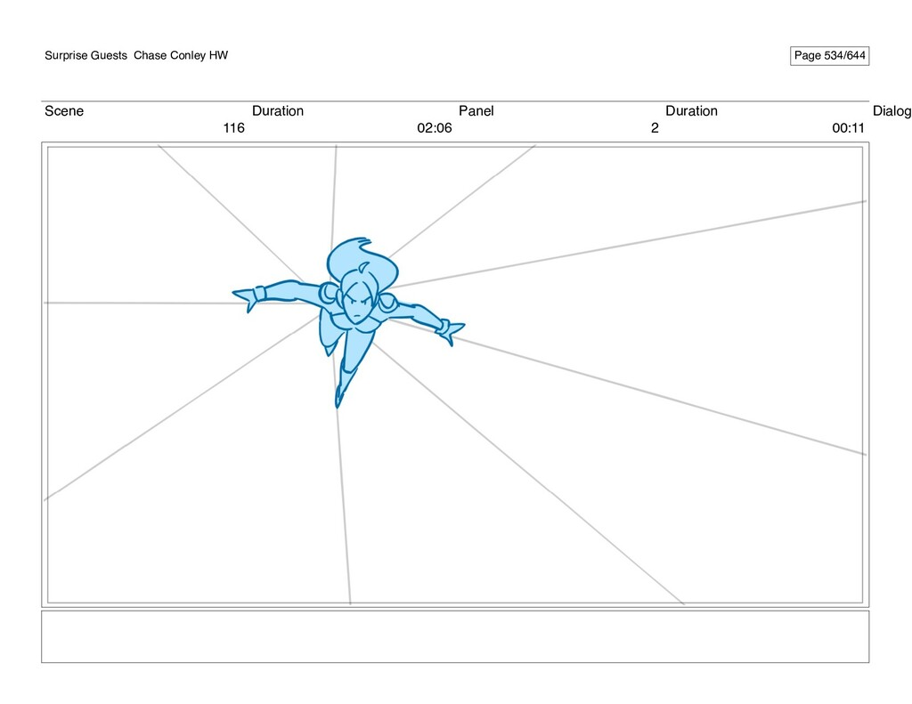 Scene 116 Duration 02:06 Panel 2 Duration 00:11...