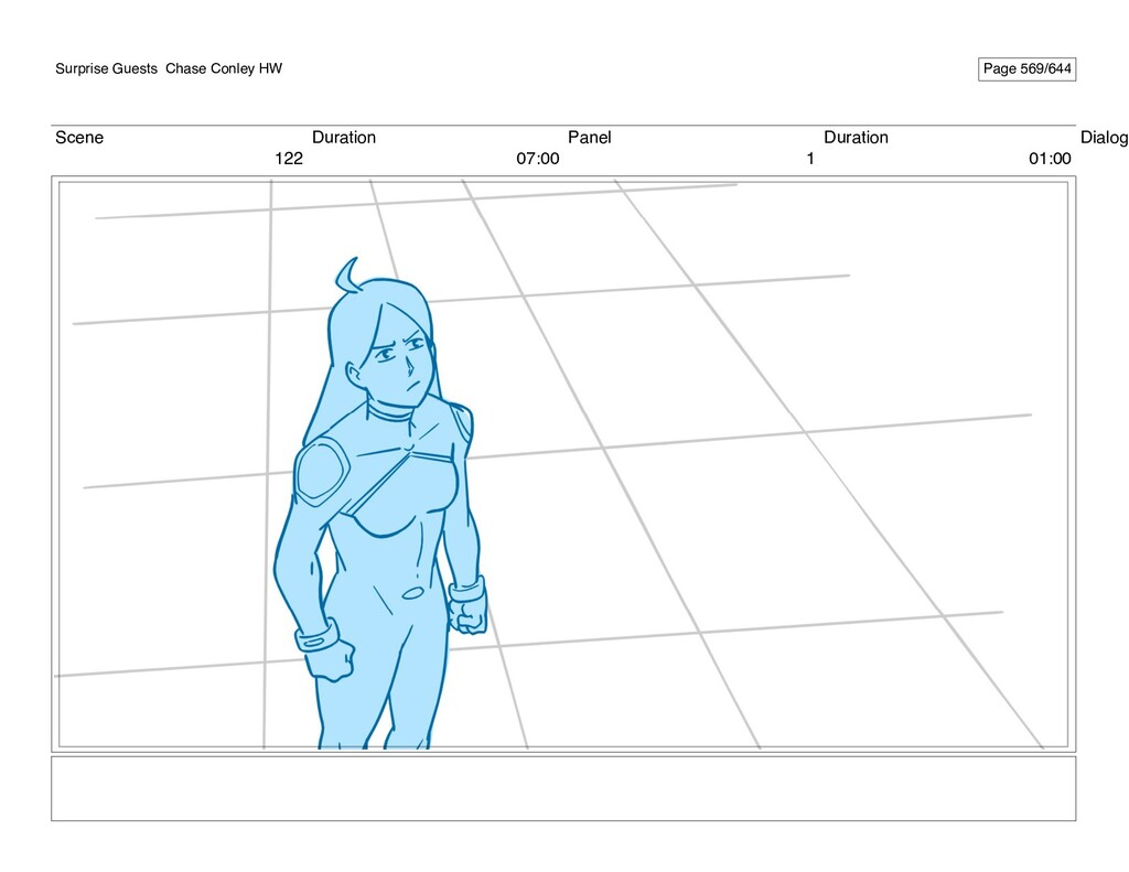 Scene 122 Duration 07:00 Panel 1 Duration 01:00...