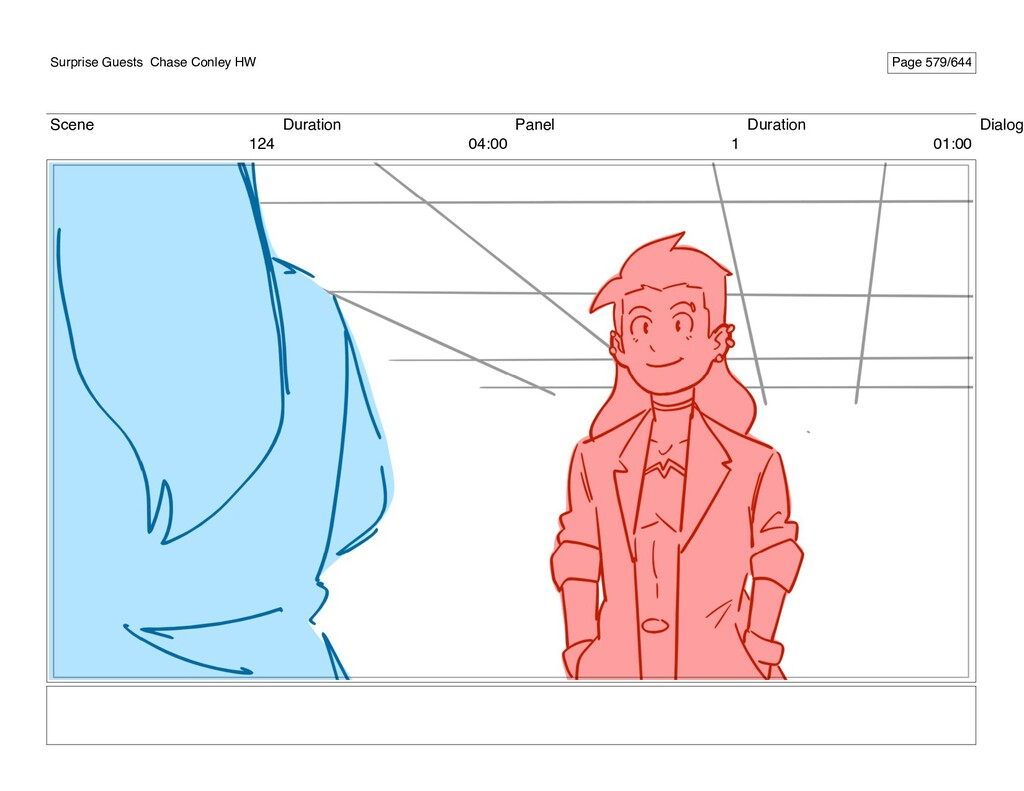 Scene 124 Duration 04:00 Panel 1 Duration 01:00...