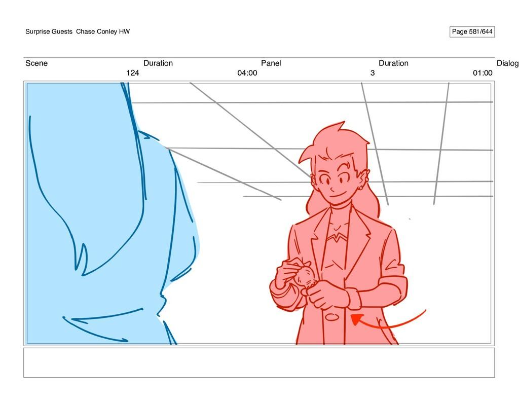 Scene 124 Duration 04:00 Panel 3 Duration 01:00...