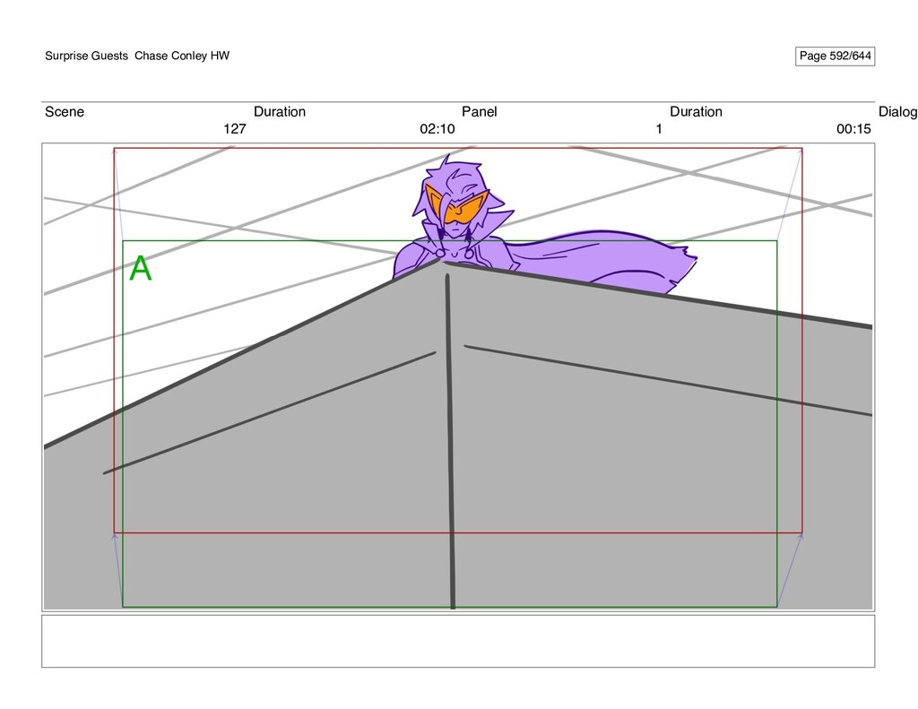 Scene 127 Duration 02:10 Panel 1 Duration 00:15...