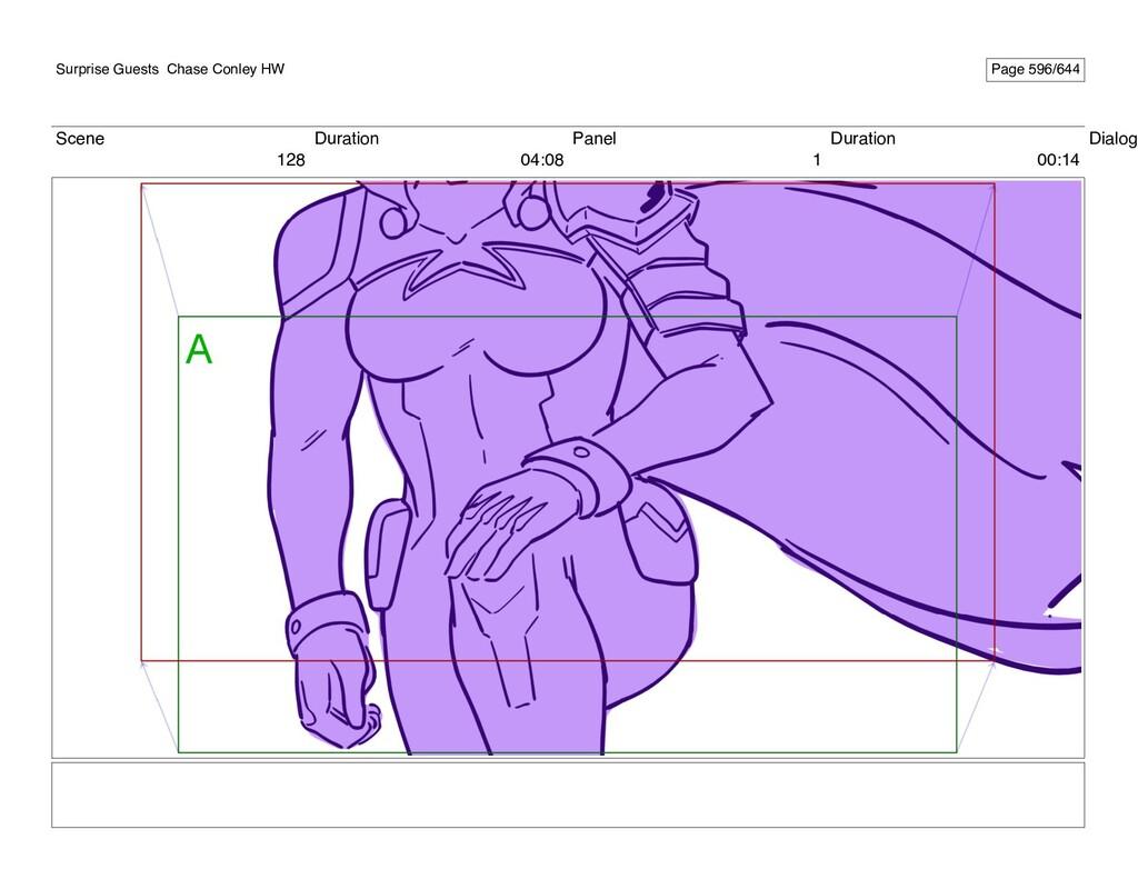 Scene 128 Duration 04:08 Panel 1 Duration 00:14...