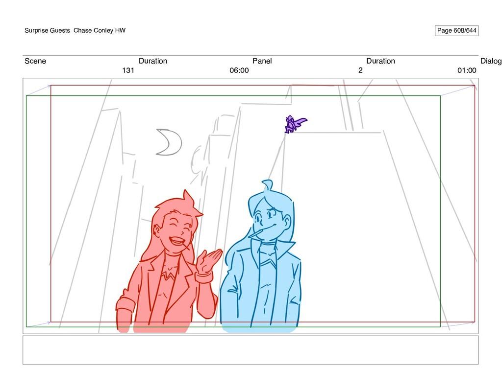 Scene 131 Duration 06:00 Panel 2 Duration 01:00...
