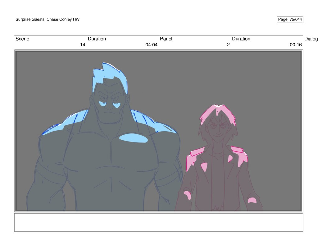 Scene 14 Duration 04:04 Panel 2 Duration 00:16 ...