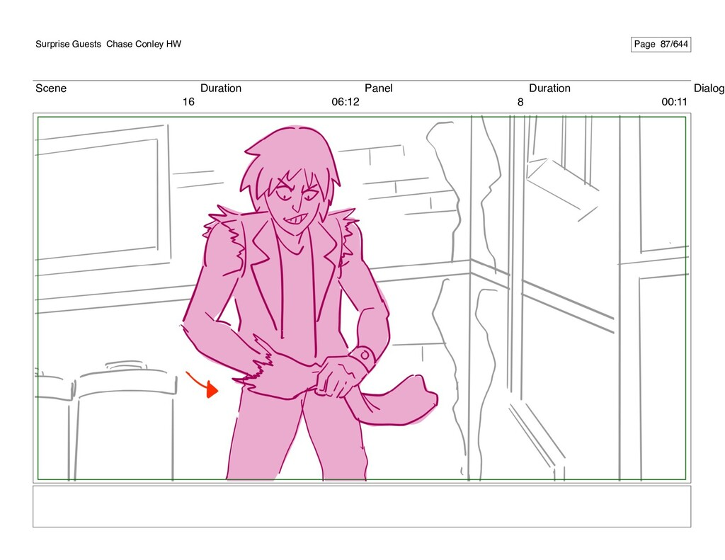 Scene 16 Duration 06:12 Panel 8 Duration 00:11 ...