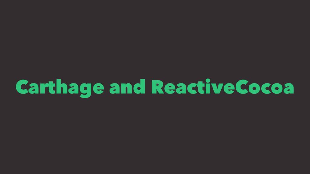 Carthage and ReactiveCocoa