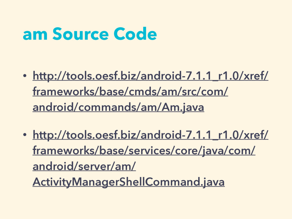 am Source Code • http://tools.oesf.biz/android-...