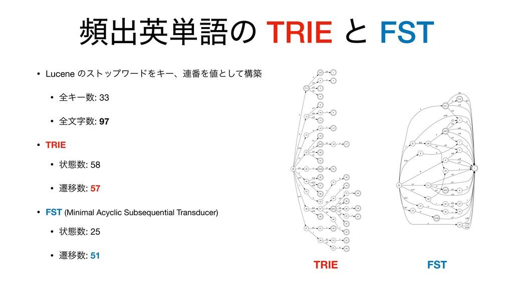 සग़ӳ୯ޠͷ TRIE ͱ FST • Lucene ͷετοϓϫʔυΛΩʔɺ࿈൪Λͱͯ͠ߏ...