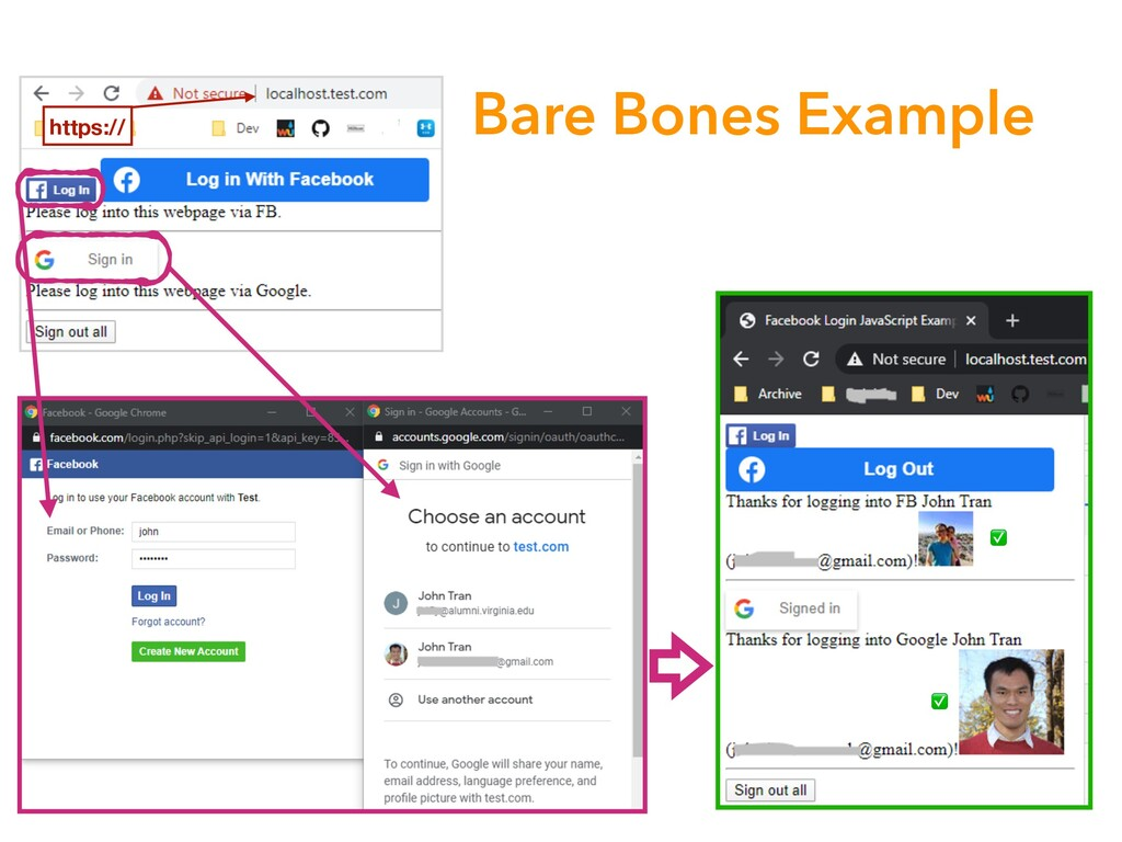 Bare Bones Example ✅ ✅ https://
