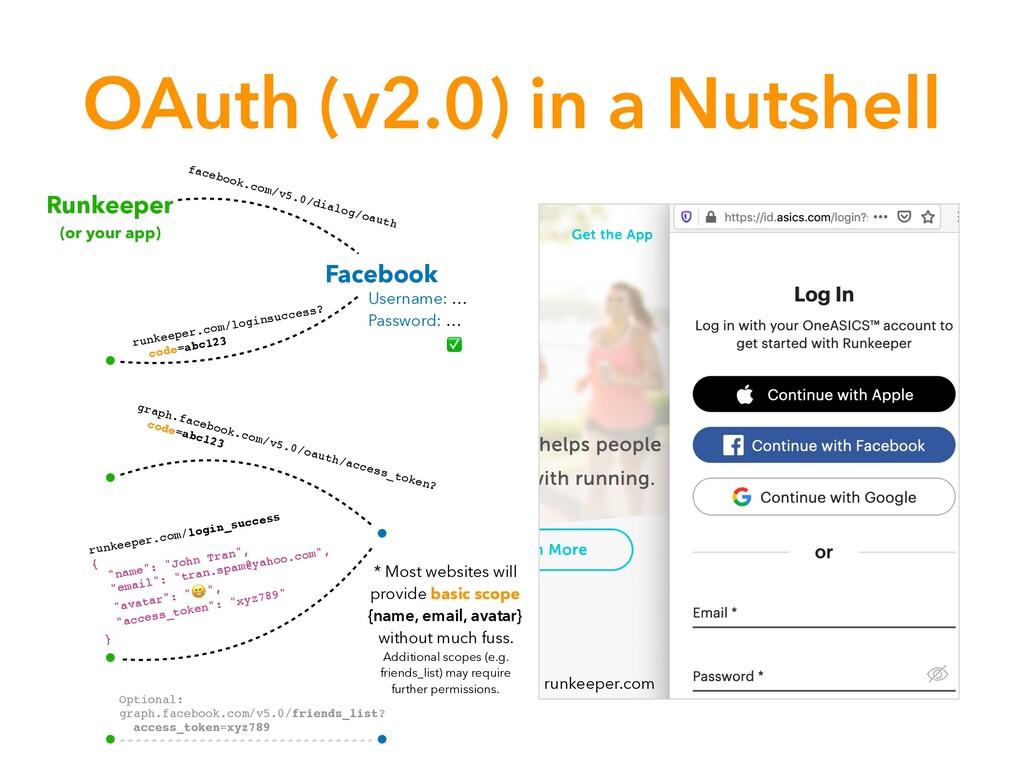 OAuth (v2.0) in a Nutshell runkeeper.com Runkee...