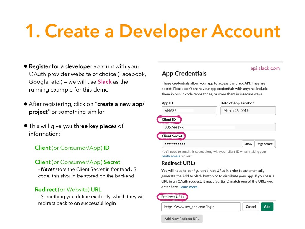 1. Create a Developer Account • Register for a ...