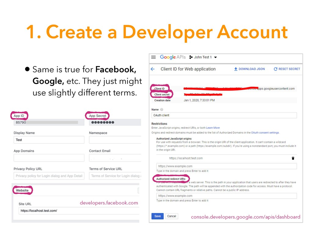 1. Create a Developer Account • Same is true fo...