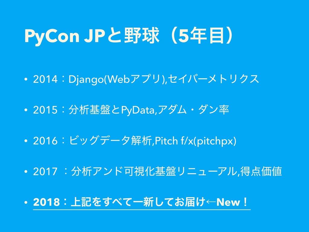 PyCon JPͱٿʢ5ʣ • 2014ɿDjango(WebΞϓϦ),ηΠόʔϝτϦΫ...