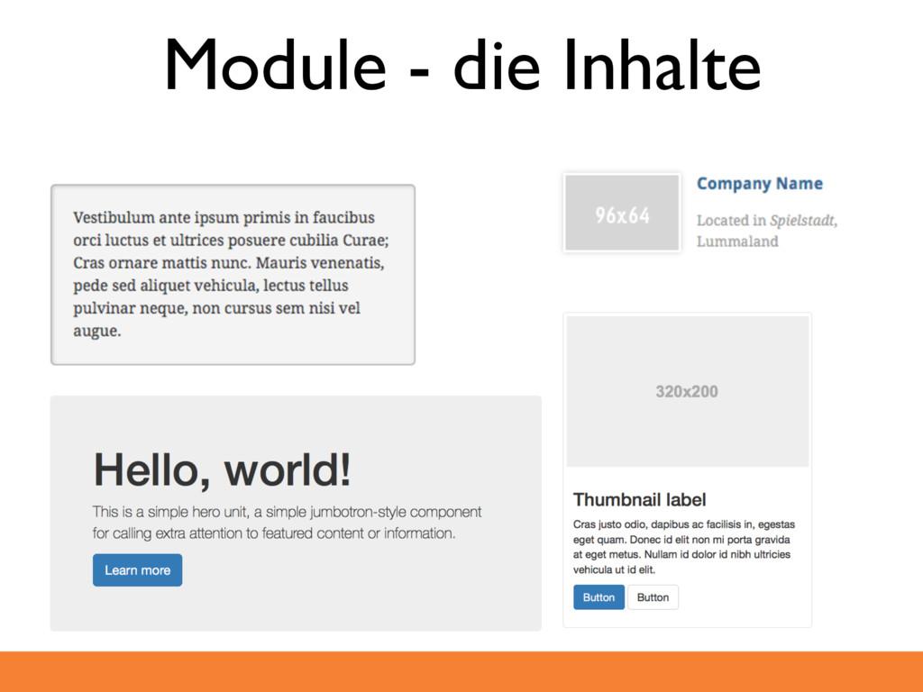 Module - die Inhalte