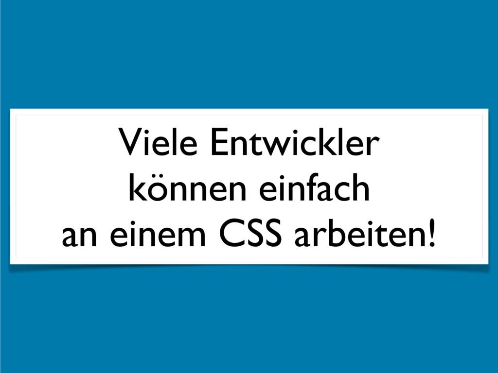 Viele Entwickler  können einfach  an einem CS...