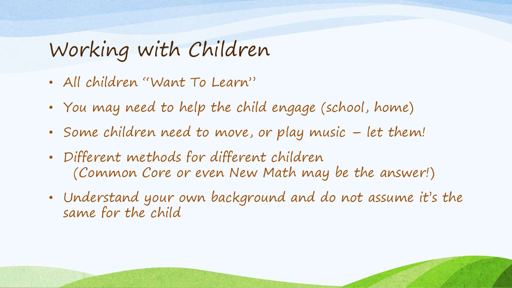 """Working with Children • All children """"Want To L..."""