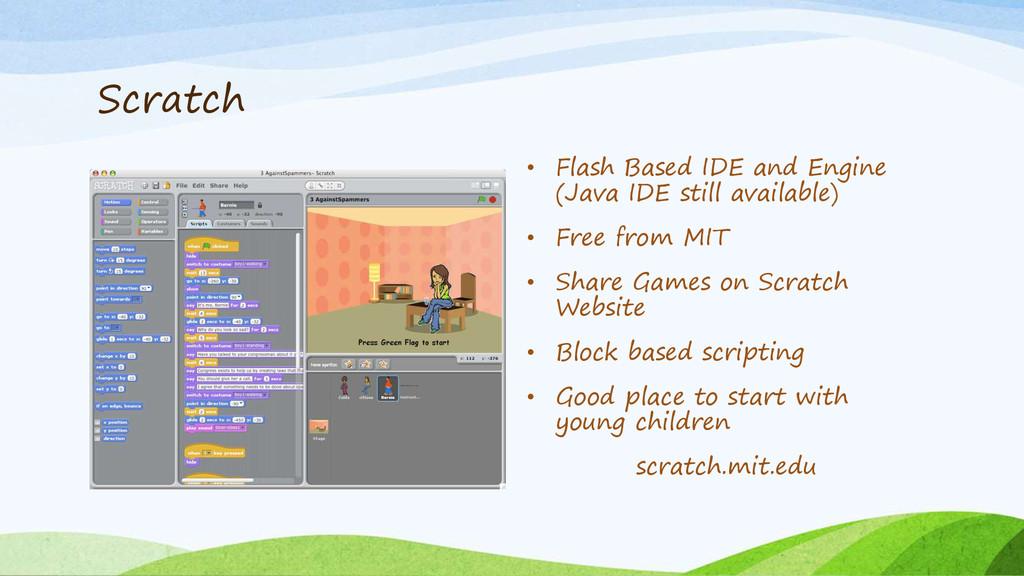 Scratch • Flash Based IDE and Engine (Java IDE ...