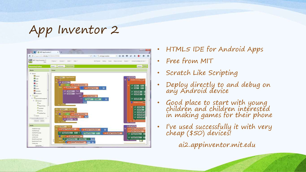 App Inventor 2 • HTML5 IDE for Android Apps • F...