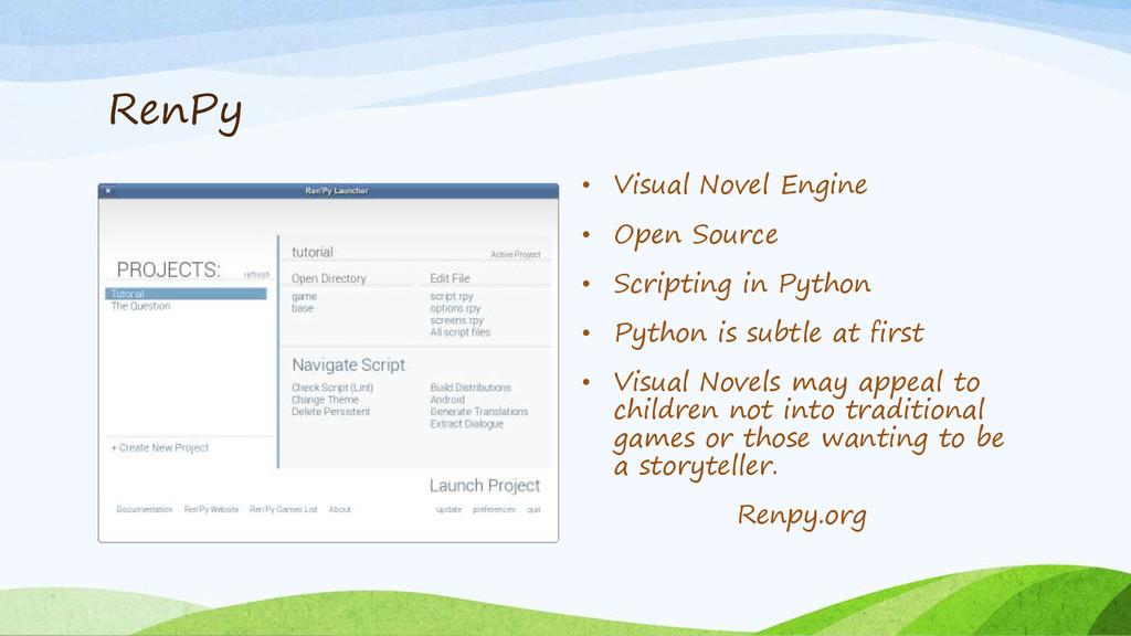 RenPy • Visual Novel Engine • Open Source • Scr...