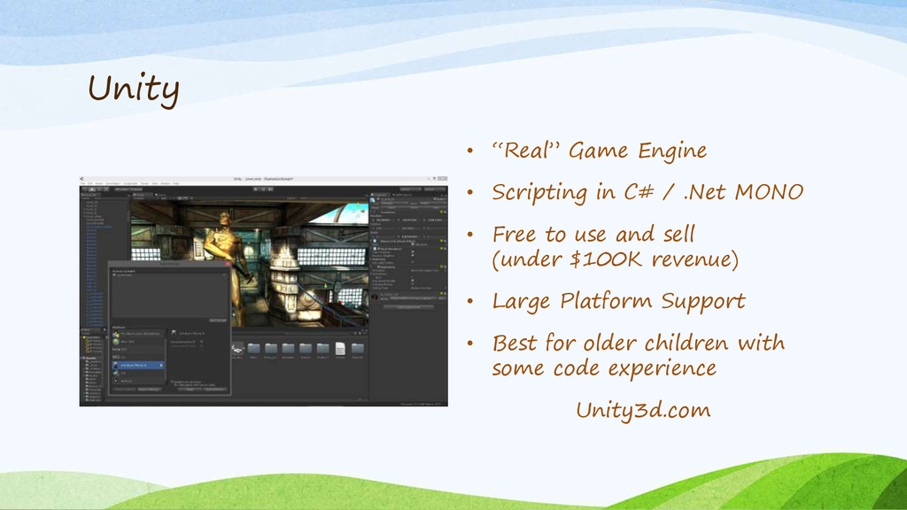 """Unity • """"Real"""" Game Engine • Scripting in C# / ..."""